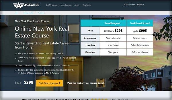AceableAgent new york course