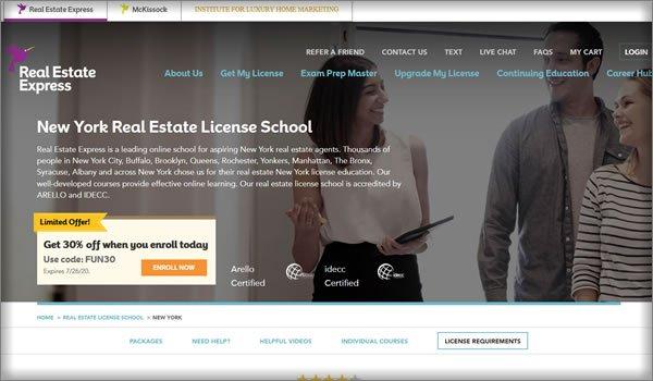online real estate schools in New York