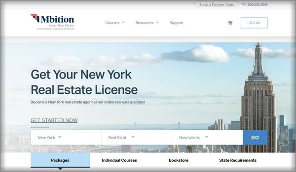 mbition's online real estate courses in New York