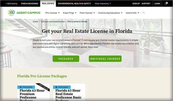 online real estate schools in Florida