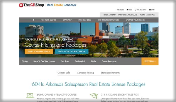 best online real estate schools in Arkansas