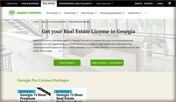 online real estate schools in Georgia