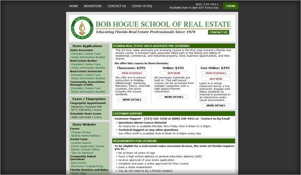 Bob Hogue School of Real Estate Course