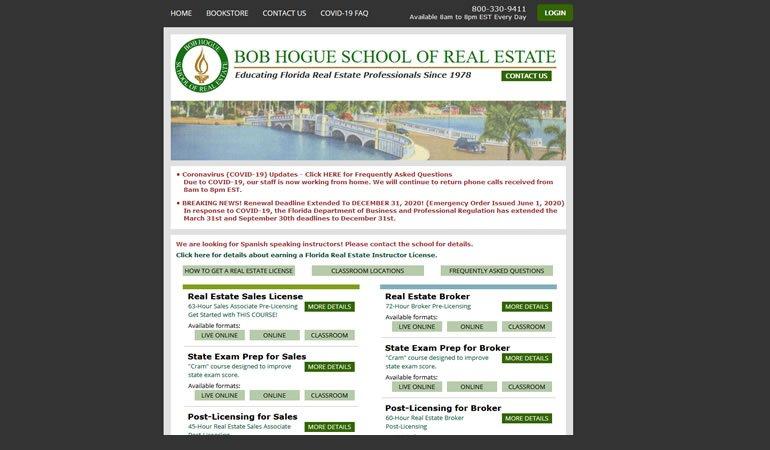 Bob Hogue School of Real Estate review
