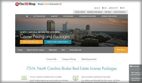 ce real estate schools in North Carolina