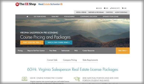 online real estate schools in Virginia