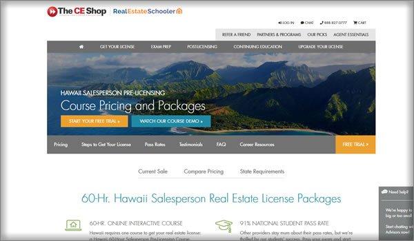 online real estate schools in Hawaii
