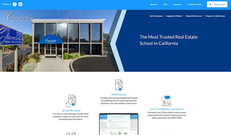 Chamberlin Real Estate School review