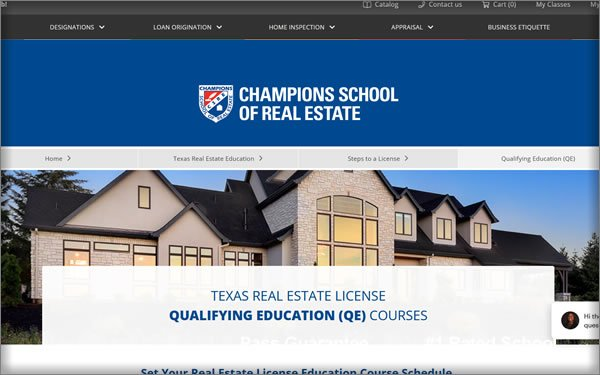 Champions School of Real Estate Texas Course