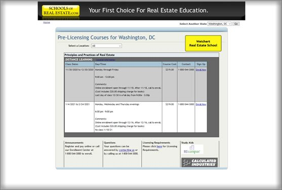 Weichert Real Estate School
