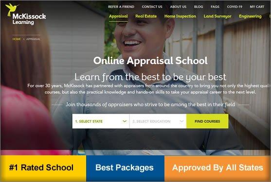 number one real estate appraiser schools
