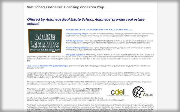 Arkansas Real Estate School course