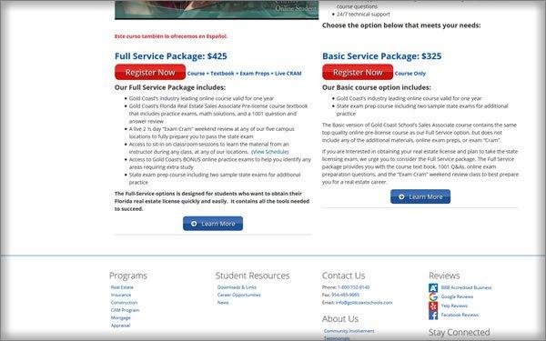 Gold Coast Schools pricing