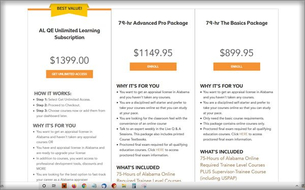 McKissock Appraisal School Pricing