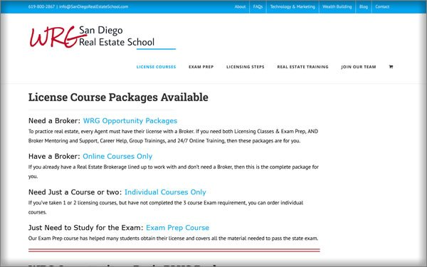 San Diego Real Estate School courses