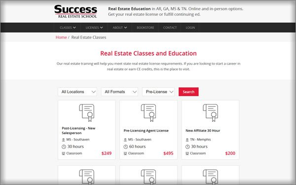 Success Real Estate School Pricing