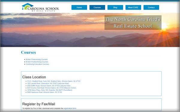 North Carolina School Of Real Estate courses