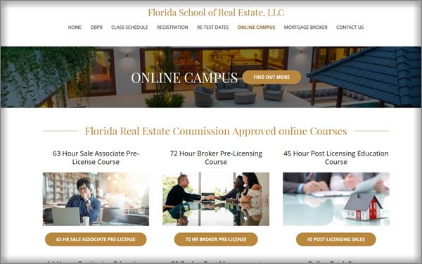course option for florida school of real estate