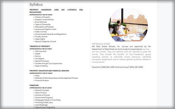 Keller Williams Real Estate School courses