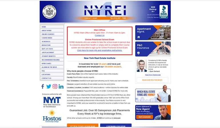 New York Real Estate Institute review