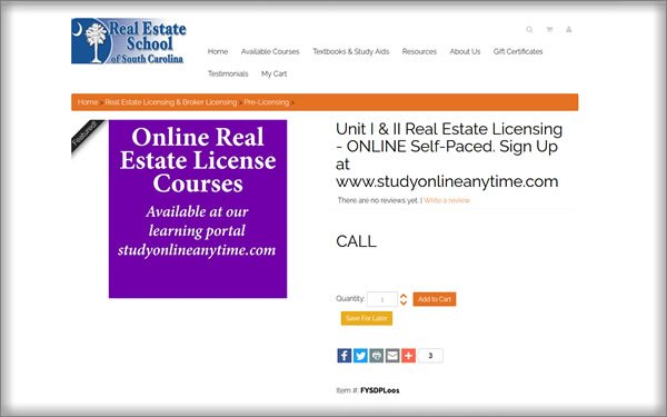 Real Estate School of South Carolina review